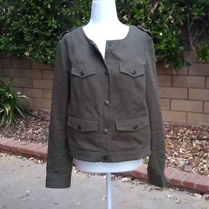 Liz Claiborne army scooped neck jacket, M